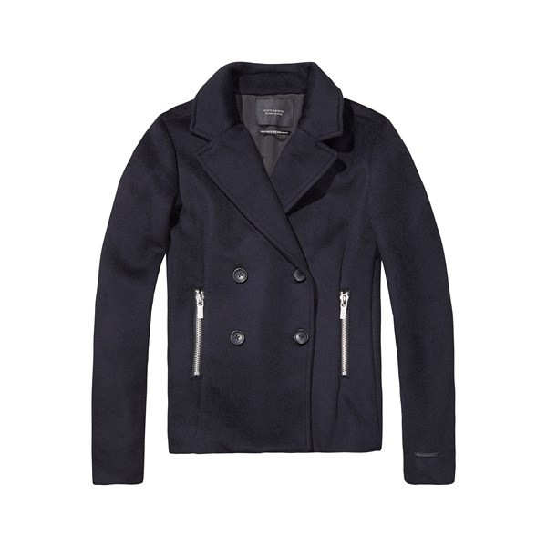 a83e44baf5240 Wool Peacoat With Zip Pockets - MAISON SCOTCH - Smith   Caughey s - Smith  and Caughey s